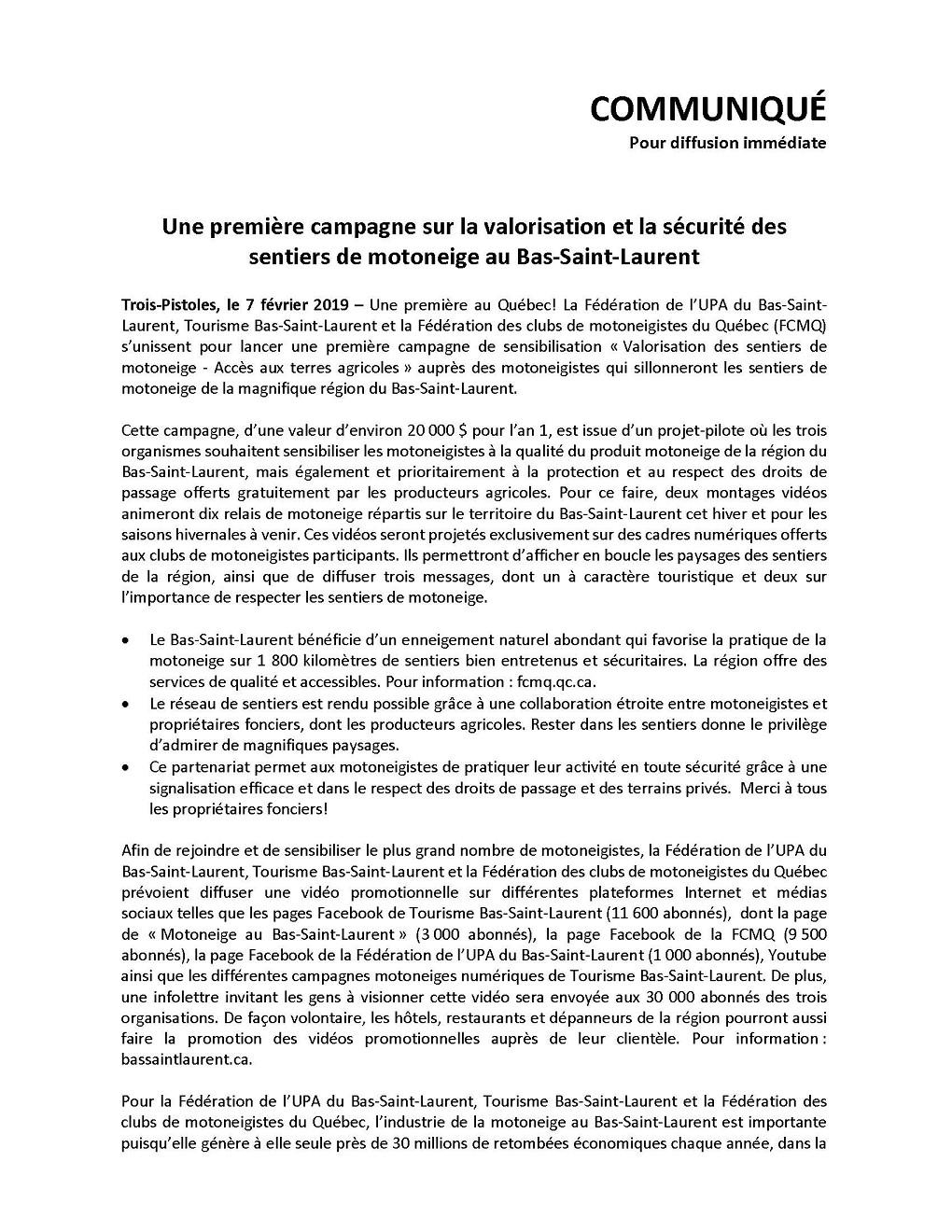 COMMUNIQUÉ -Motoneige- campagne sur la valorisation et la sécurité_Page_1 (Auteur : Angélika)