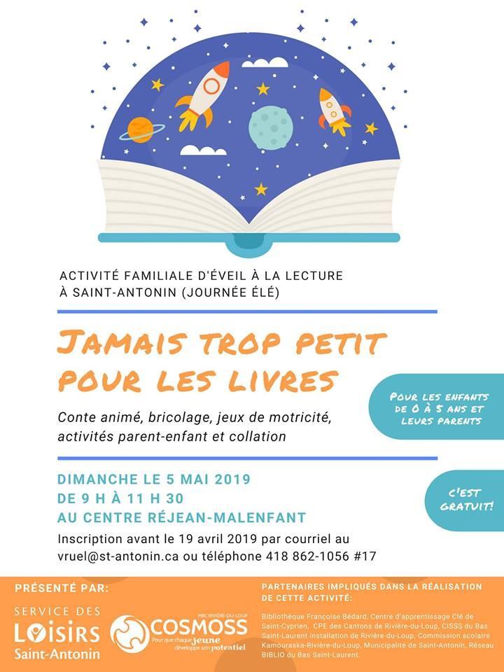 Éveille à la lecture Saint-Antonin - 5 mai 2019 (Auteur : Angélika)