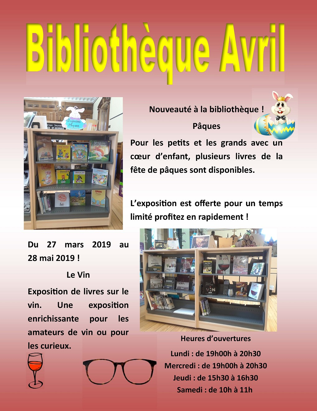 Bibliothèque - Avril 2019 (Photo : © Angélika)