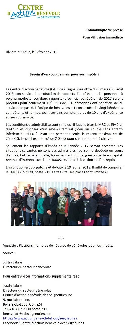 pour rapport d'impot 2017 (Photo : © Angélika)